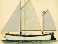 1961 sloep bezit Wim Strijbosch tekening