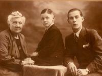 1936 grootmoeder van Dalen en broer Sjef