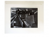 1952 gouache zwart&wit geometrisch A3