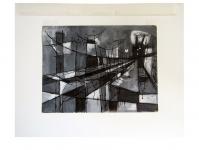 1952 gouache zwart&wit geometrisch A4