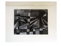 1952 gouache zwart&wit geometrisch A5